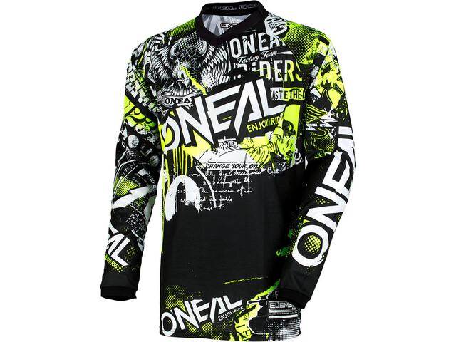 O'Neal Element Koszulka rowerowa z zamkiem błyskawicznym Dzieci, attack-black/hi-viz